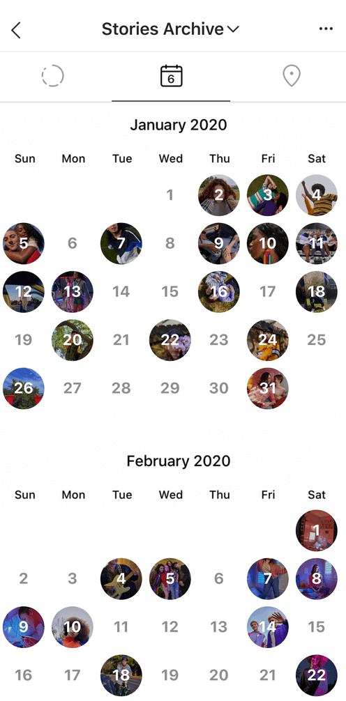 Календарь сторис в Инстаграм
