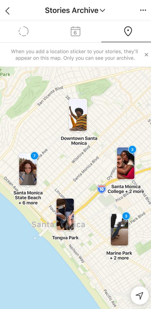 Карта сторис в Инстаграм