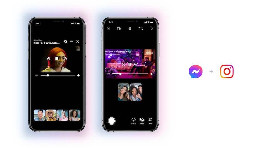 Как запустить совместный просмотр в Instagram Messenger
