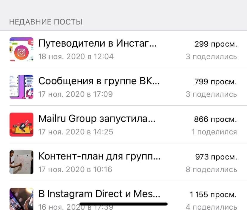 Недавние посты в Телеграм