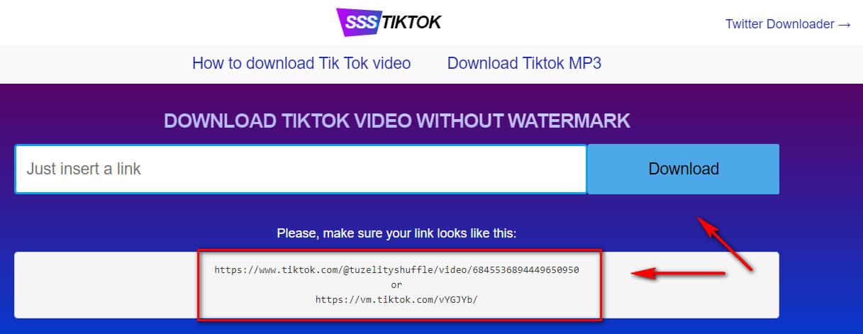 Сервис для скачивания видео из Тик-Ток