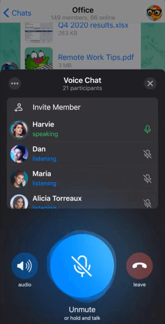 Как запустить голосовой чат в Телеграмме