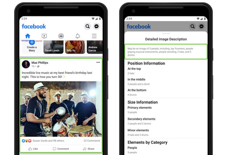 Автоматическое описание изображений в Фейсбук и Инстаграм