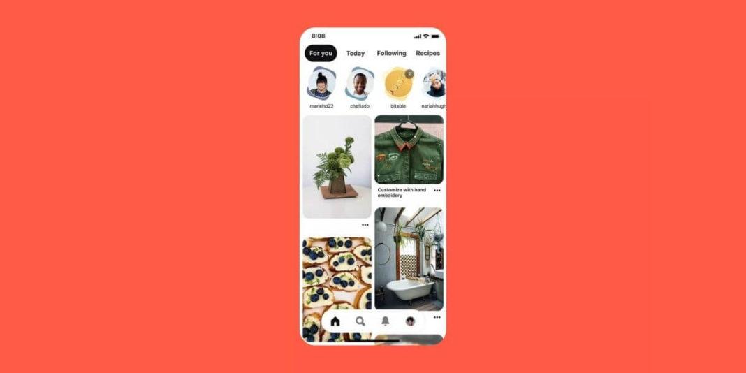 Истории в Pinterest появились на главном экране приложения