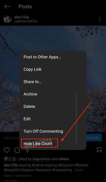 Как скрыть счётчик лайков под постом в Инстаграм