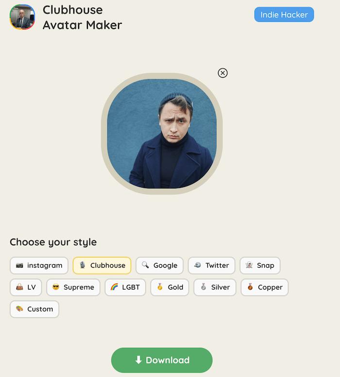 сделать цветную обводку аватара в Clubhouse