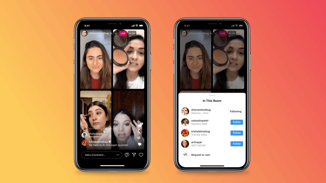 Как сделать прямой эфир в Instagram с 4 пользователями одновременно
