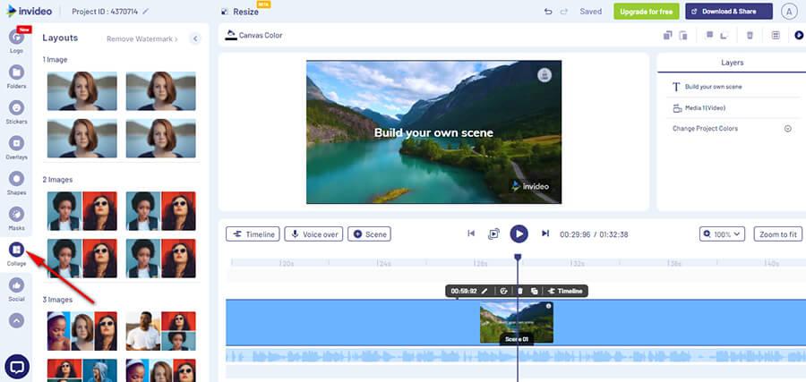 Онлайн сервис для видеомонтажа