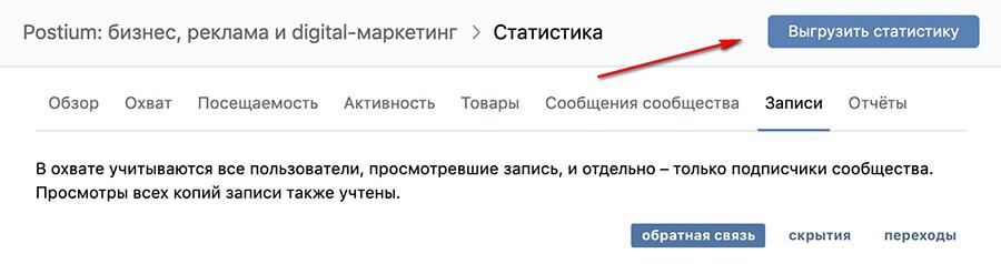Как найти статистику по охватам ВКонтакте
