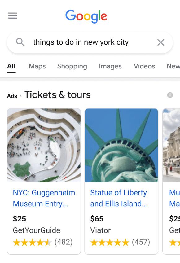 блок Tickets&Tours